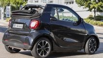 Smart ForTwo Cabrio spied up close undisguised and with the roof open