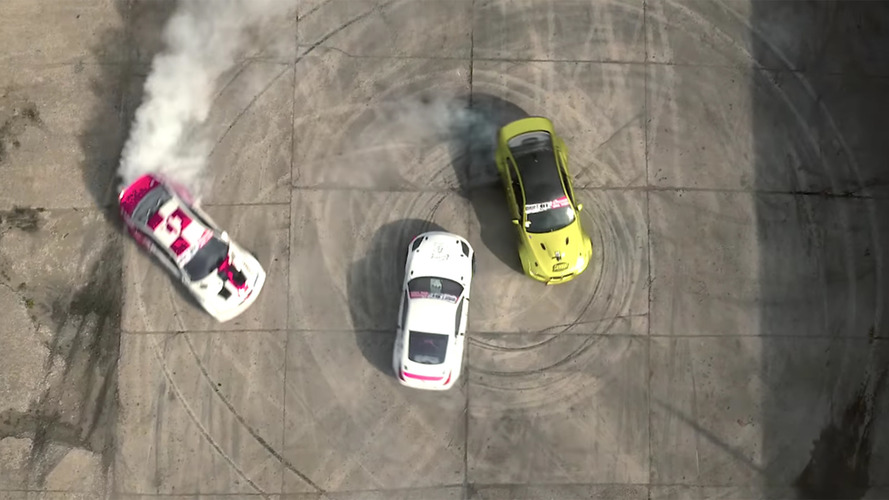 Drifters in 350z and pair of M3s attack a decaying Soviet missile base