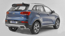 Kia KX3 first official pictures hit the web including first interior photo