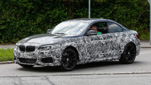 2016 BMW M2 prototype spied with a four-tailpipe exhaust system