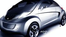Mitsubishi i MiEV SPORT AIR Concept illustrations
