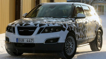 Saab 9-4X Spied Showing Less Spots Plus New Interior Shot