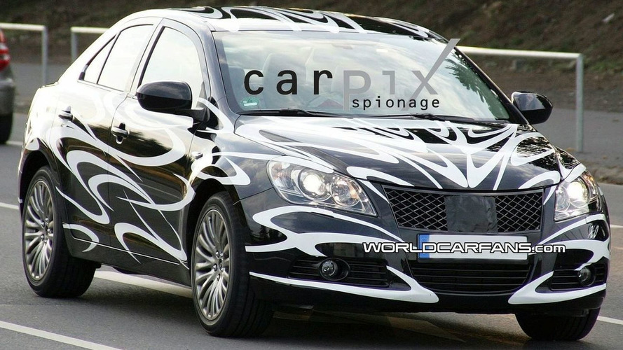 Suzuki Kizashi Latest Spy Photos in Germany
