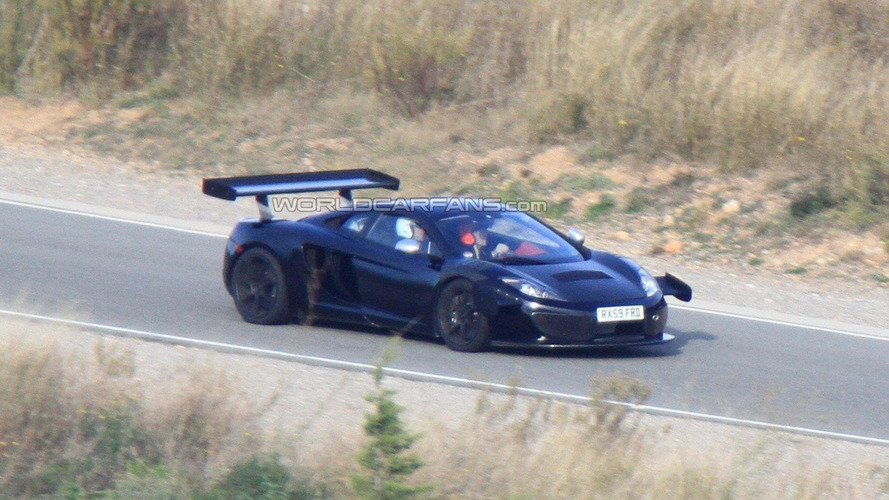 2012 McLaren MP4 GT3 racer spied on the track