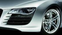 Audi Pioneers All LED headlamp with R8 model
