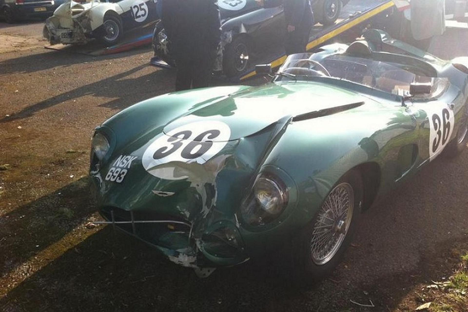 $30 Million Aston Martin DBR1 Wrecked While Racing