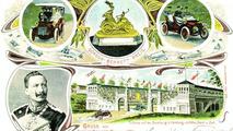 Official postcard for fifth Bennett race 1904