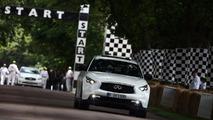 Sebastian Vettel drives namesake Infiniti FX for first time - Euro pricing announced