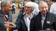 Sir Martin Sorrell, WPP CEO with Bernie Ecclestone, and Jean Todt, FIA President