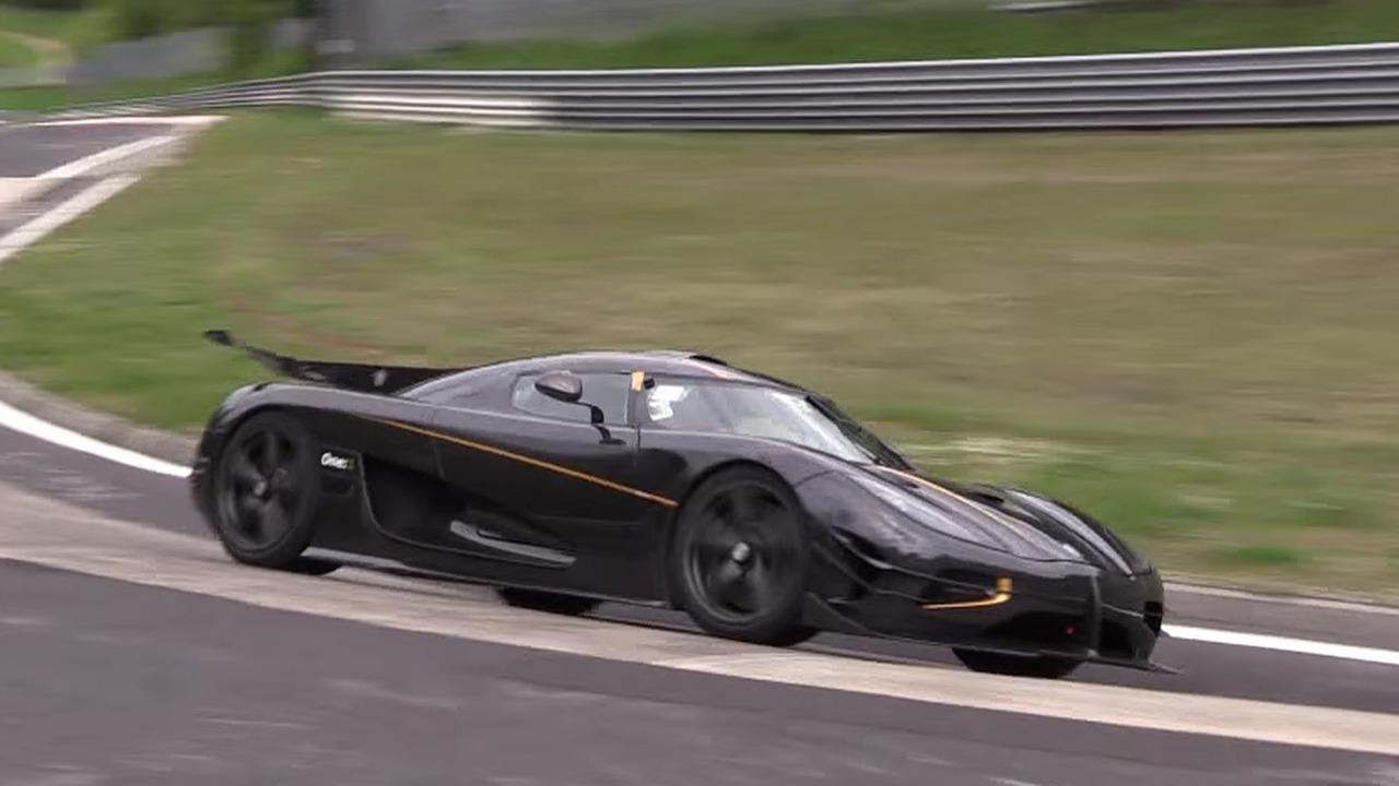 Koenigsegg One:1 laps Nurburgring on video