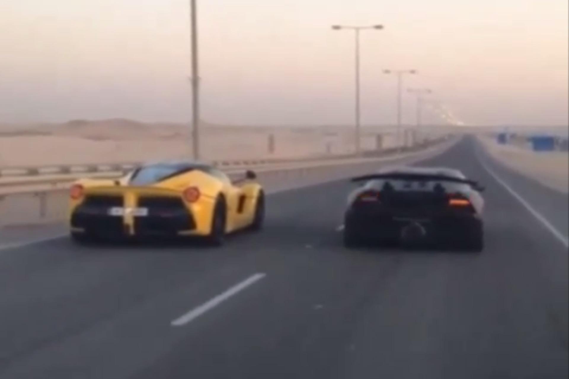 LaFerrari Drag Races A Lamborghini Sesto Elemento, Everybody Wins [Video]