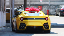Ferrari F12 Speciale spied again wearing no camouflage