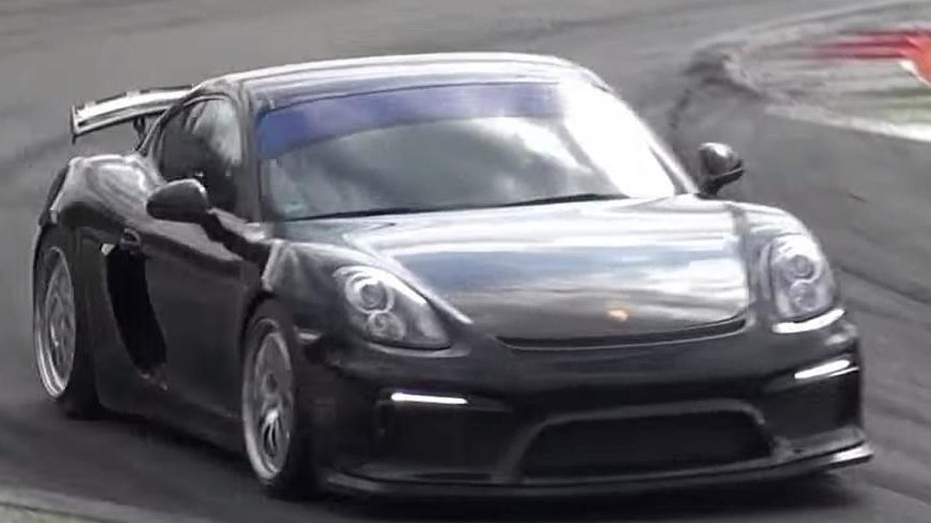 Possible track-only Porsche Cayman GT4 spied for the first time [video]