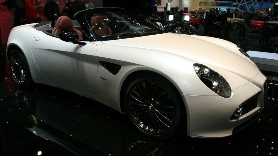 Alfa Romeo 8C Spider topless in Geneva