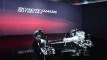 Next-gen Mazda MX-5 chassis at 2014 New York Auto Show