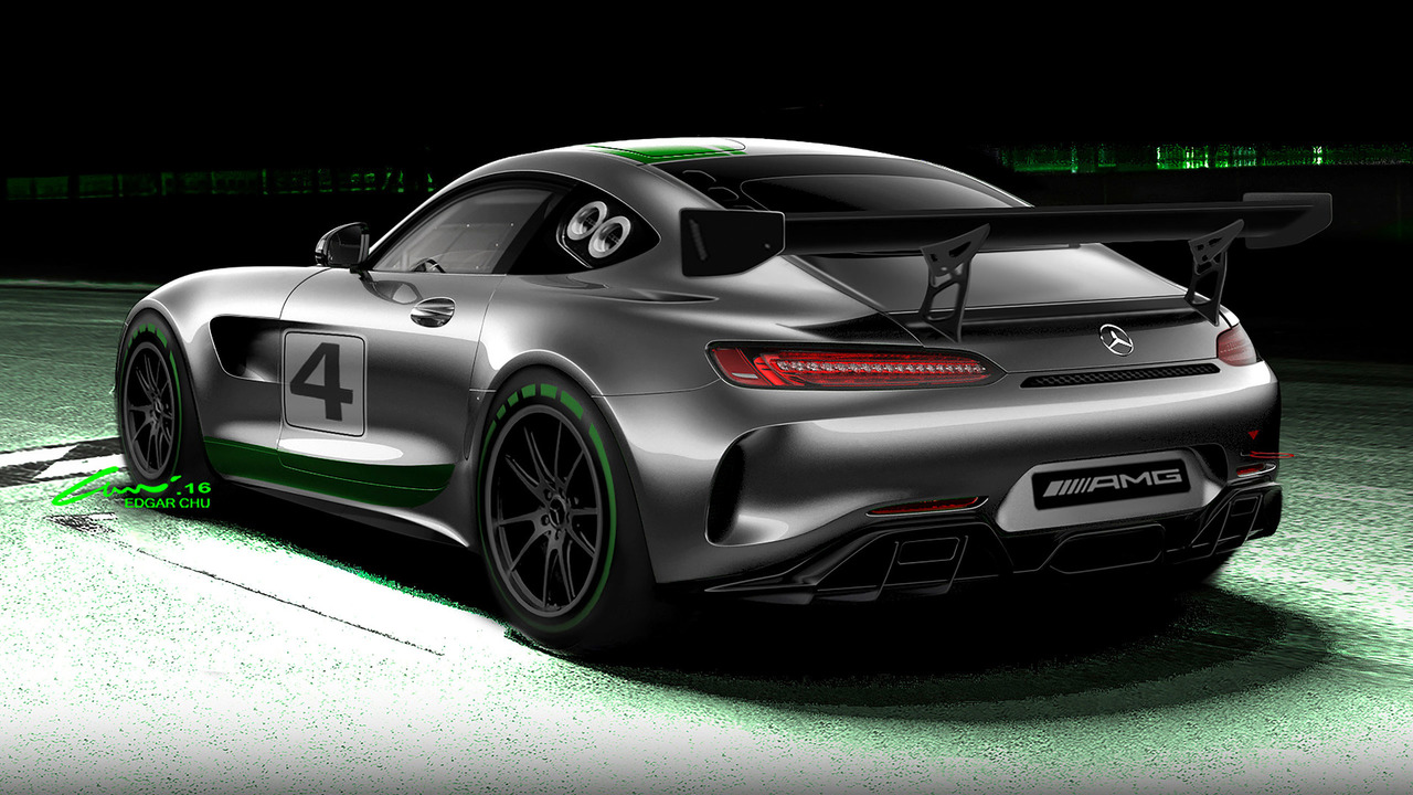 Mercedes-AMG GT4 race car