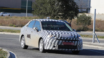 Citroen compact sedan spy photo