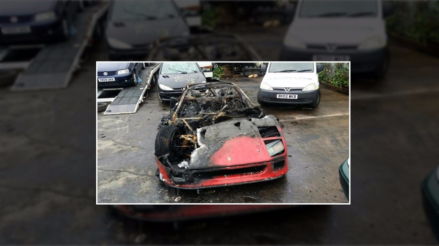 Freshly restored Ferrari F40 goes up in flames