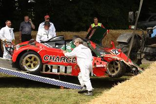 Rare Mazda 767B Racecar Crashes at Goodwood Festival of Speed