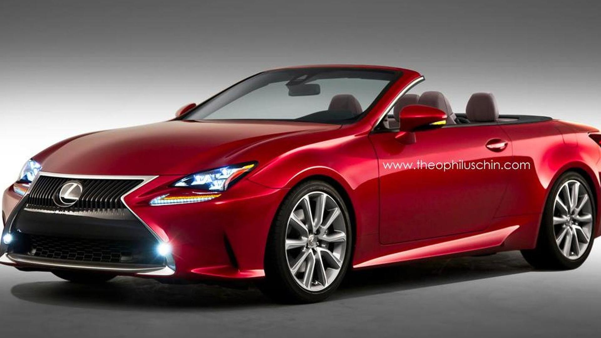 Lexus RC Convertible rendered for your pleasure