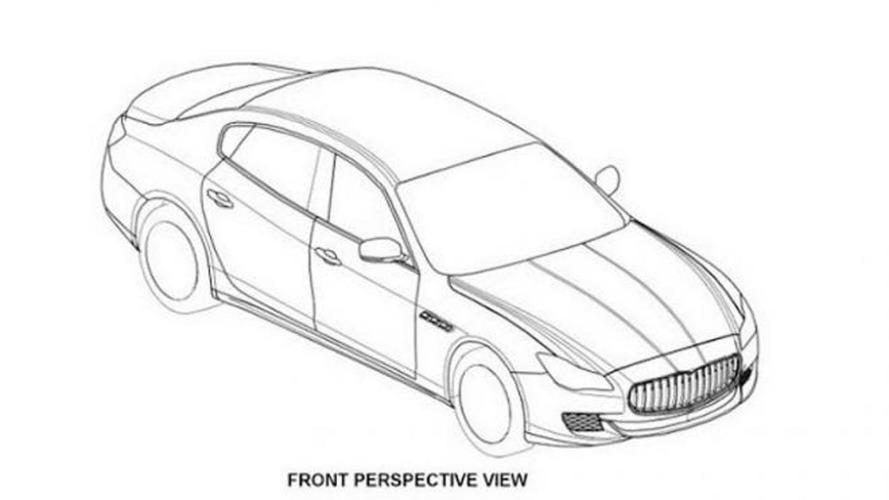 2014 Maserati Quattroporte patent drawings surface