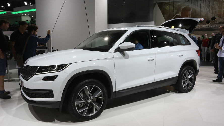 Skoda Kodiaq SUV debuts in Paris