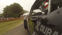 Strap into Ken Block's Hoonicorn for a ride at Goodwood
