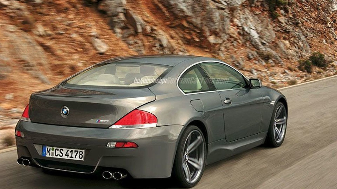BMW M6 artist impression rear view