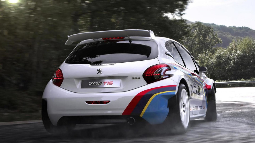 Peugeot 208 T16 driven by Sebastien Loeb heading to Pikes Peak