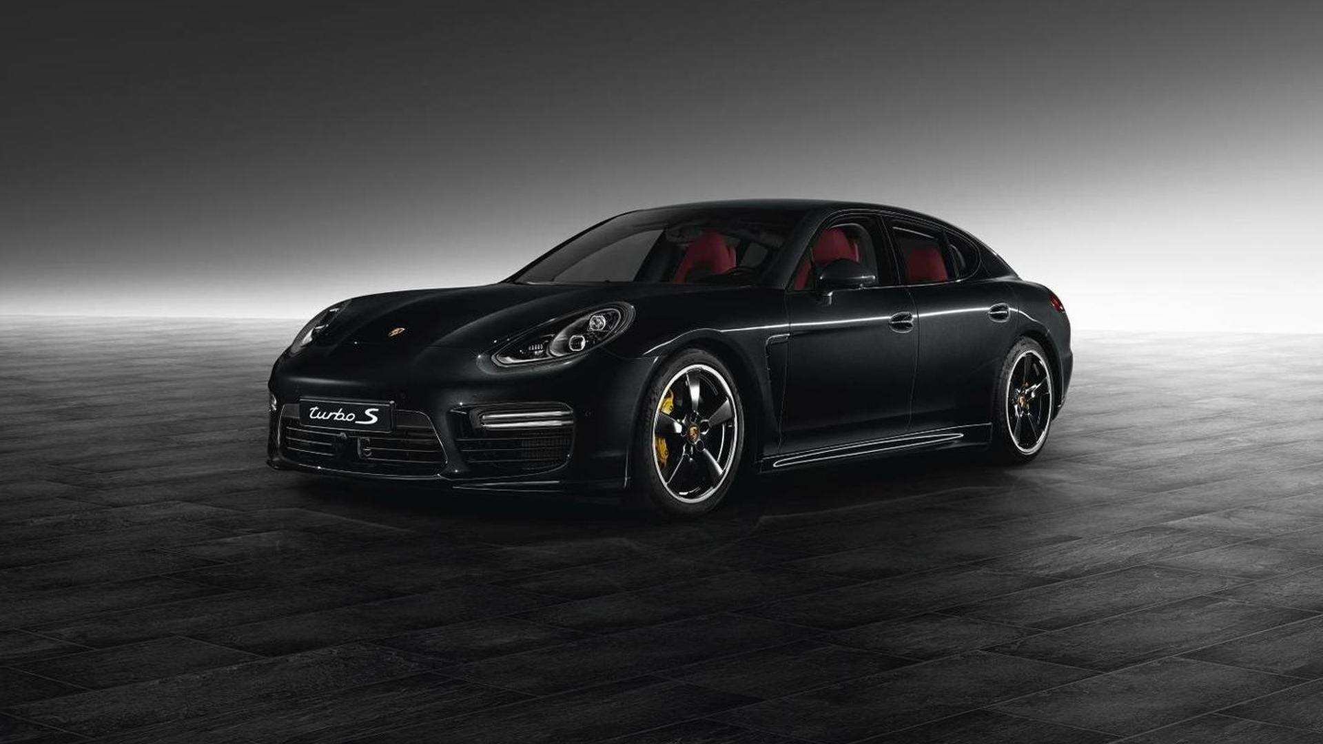 Porsche Exclusive dresses up a Panamera Turbo S in Jet Black Metallic
