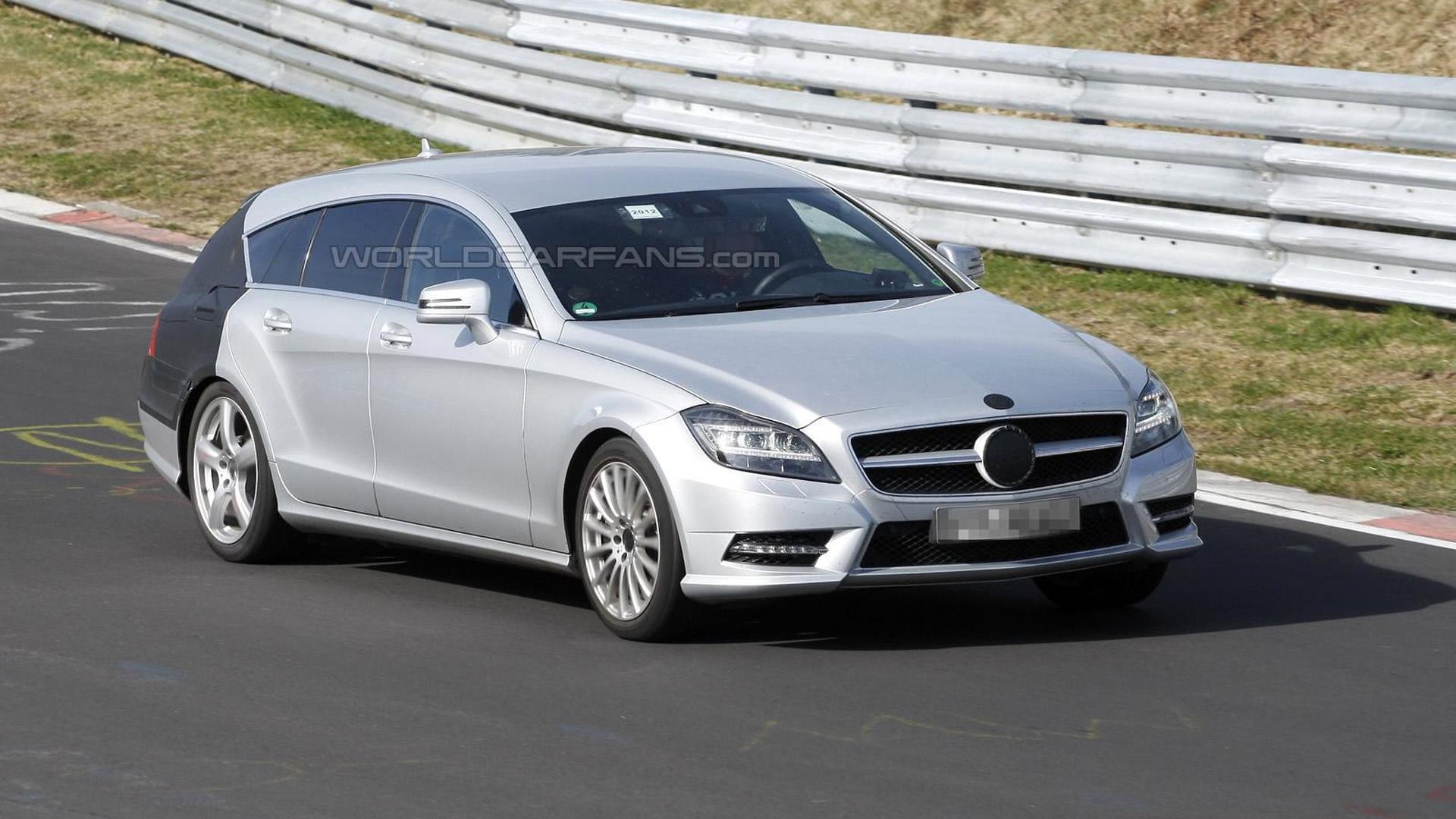 Mercedes CLS Shooting Break spied on Nurburgring