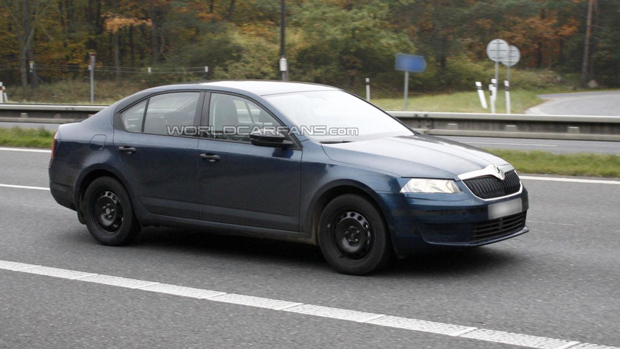 2013 Skoda Octavia spied with minimal disguise
