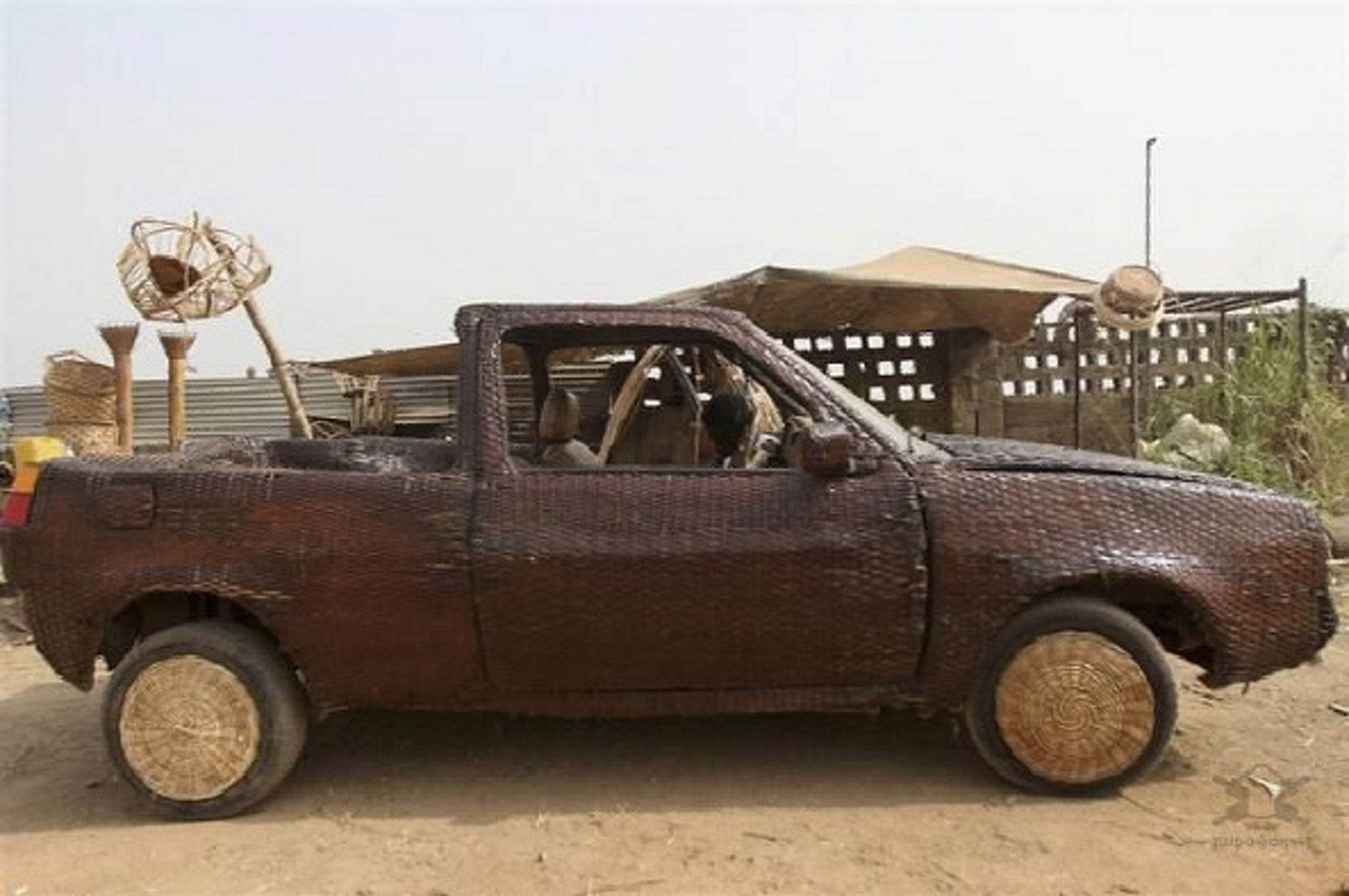 This Wicker Car Seems Unsafe, Flammable