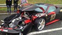 Ferrari 458 Italia crash during Gumball 3000 22.05.2013