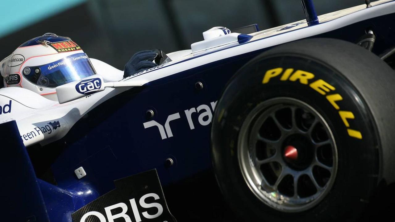 Rubens Barrichello (BRA), Williams F1 Team - Formula 1 Testing, Pirelli tyre test, 19.11.2010 Abu Dhabi