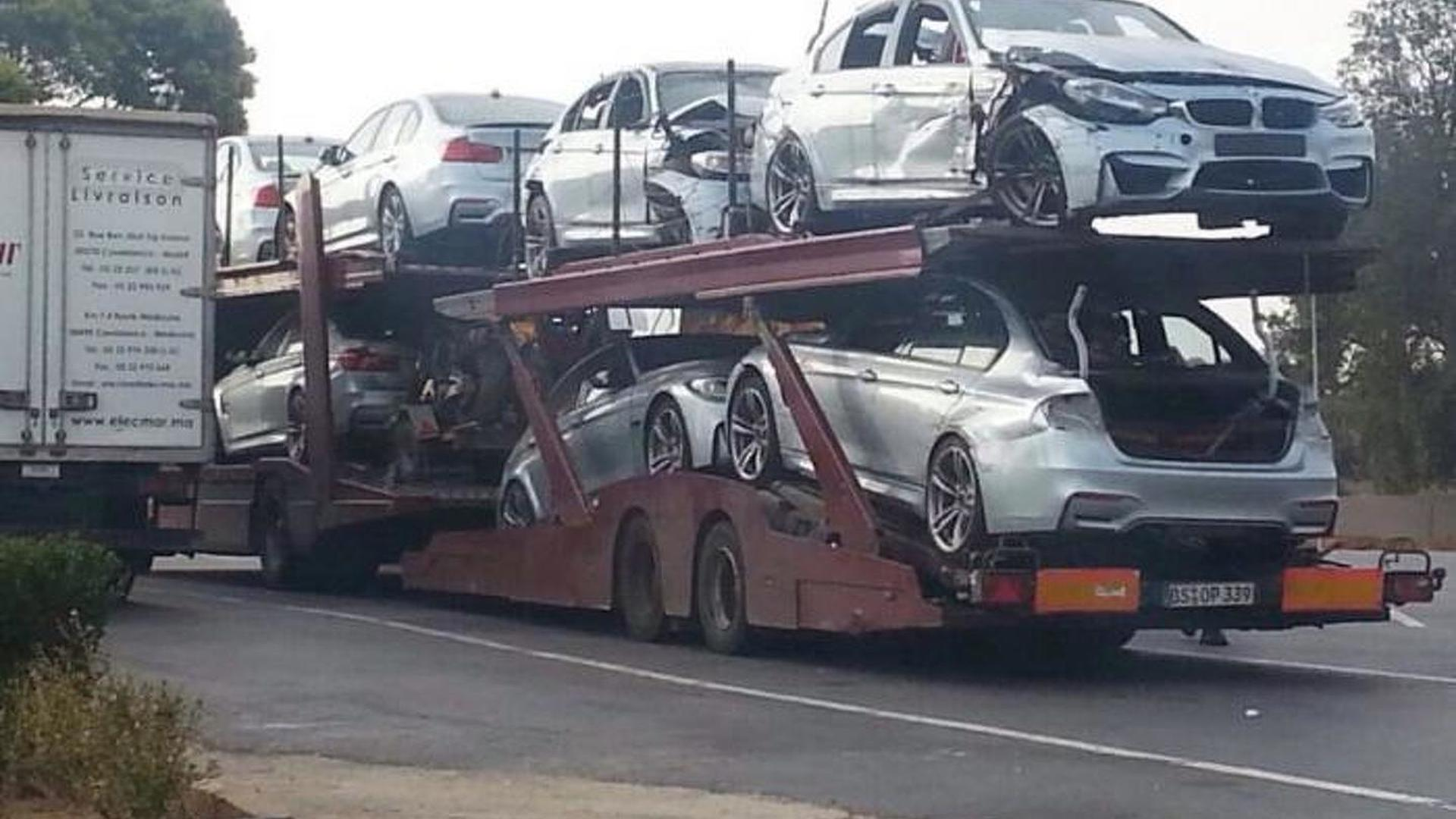 Trailer packed with damaged BMW M3s spotted after Mission Impossible 5 filming