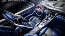 Porsche 911 gets blue electric theme from Carlex Design