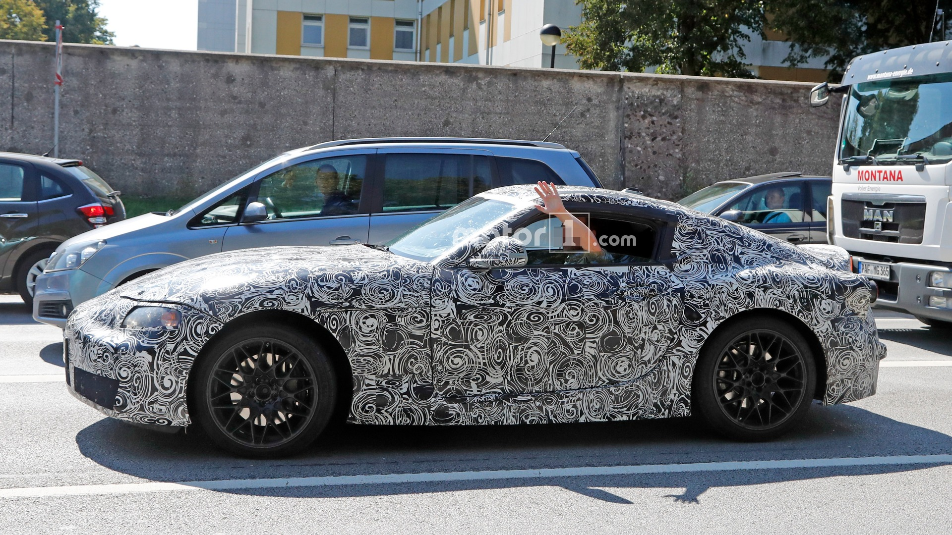 New toyota supra makes long awaited spy photo debut