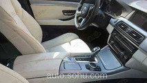 2014 BMW 5-Series facelift interior spy photo