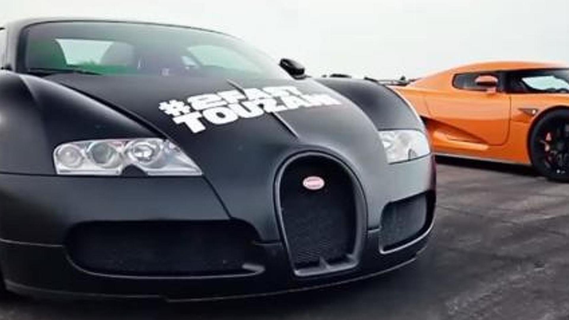 Christian von Koenigsegg drives Bugatti Veyron, races it ...