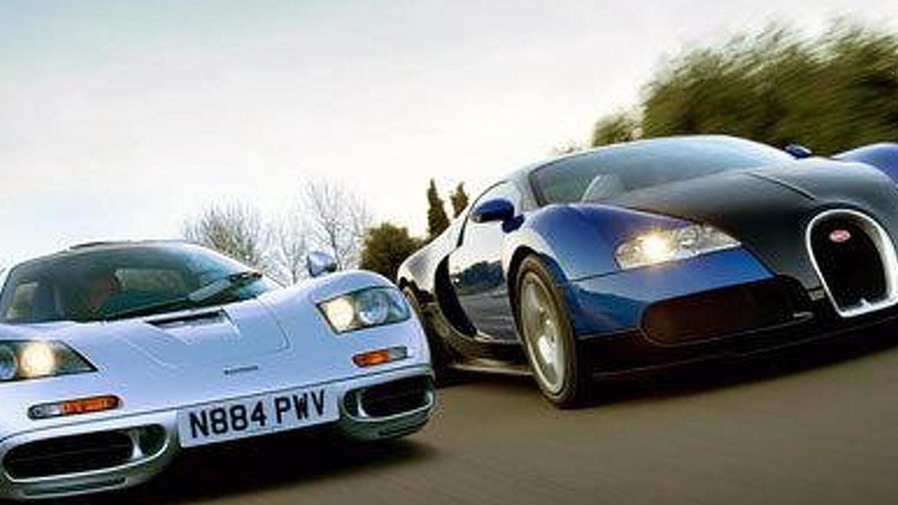 McLaren F1 vs Bugatti 16.4 Veyron.