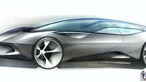 Pininfarina Sintesi Concept first sketch revealed