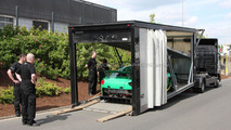 Aston Martin V12 Zagato racer arrives at the Nürburgring [spy photos]