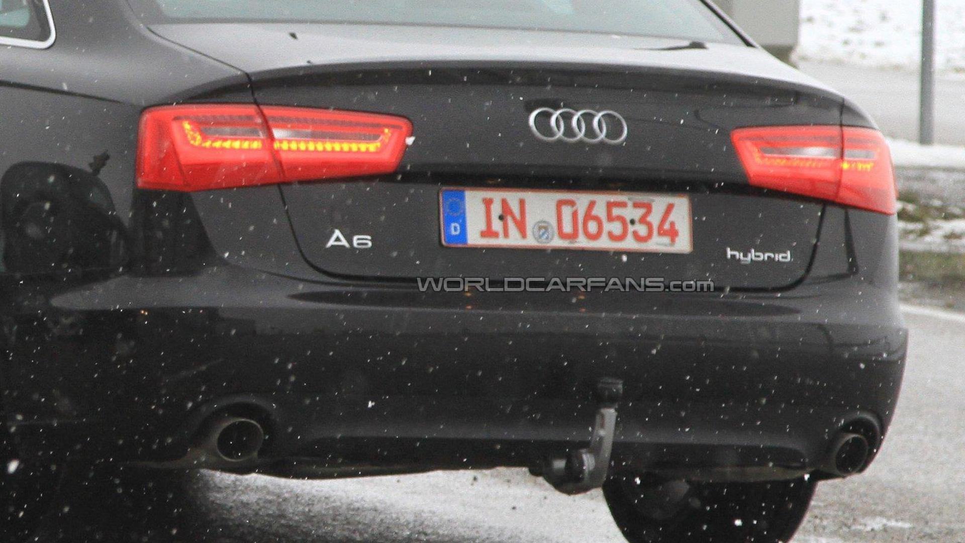 Audi A6 Hybrid on the road for the first time