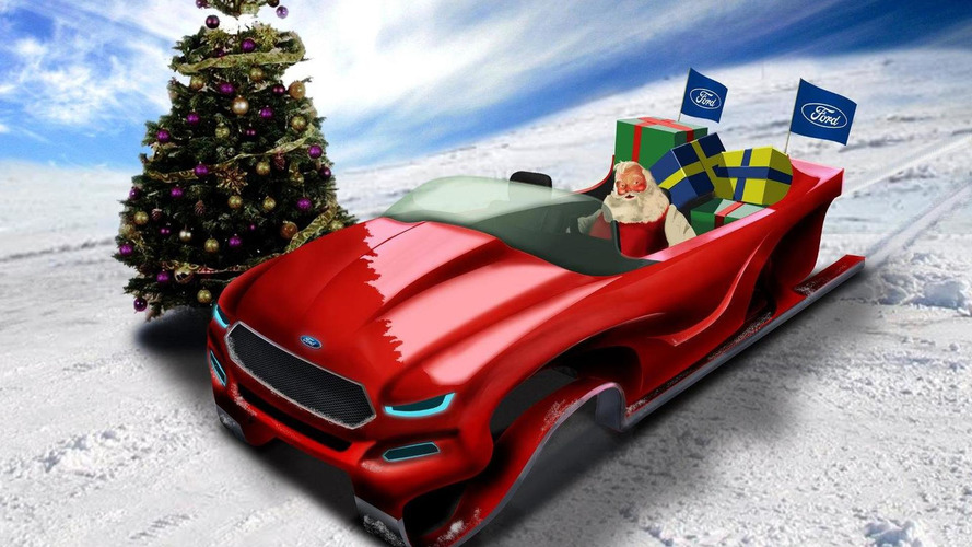 Ford Ecoboost concept sleigh proposes Santa to slash his carbon footprint
