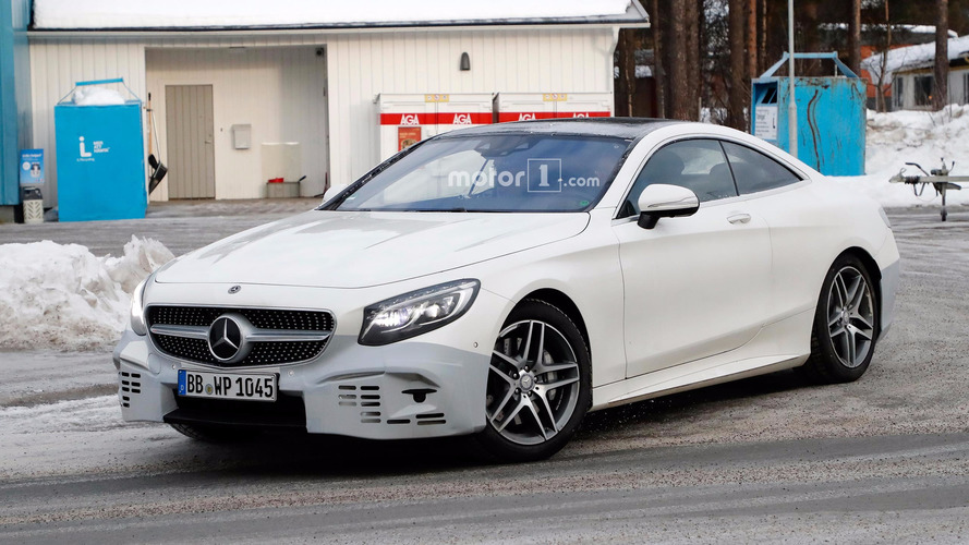 Refreshed Mercedes S-Class Coupe spied looking stylish in the snow
