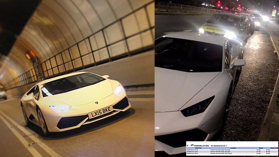 London police officers disciplined for joyriding a Lamborghini