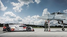 Audi R18 e-tron quattro with Eurofighter