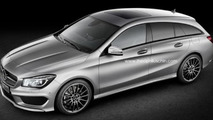 Mercedes-Benz CLA Shooting Brake gets rendered