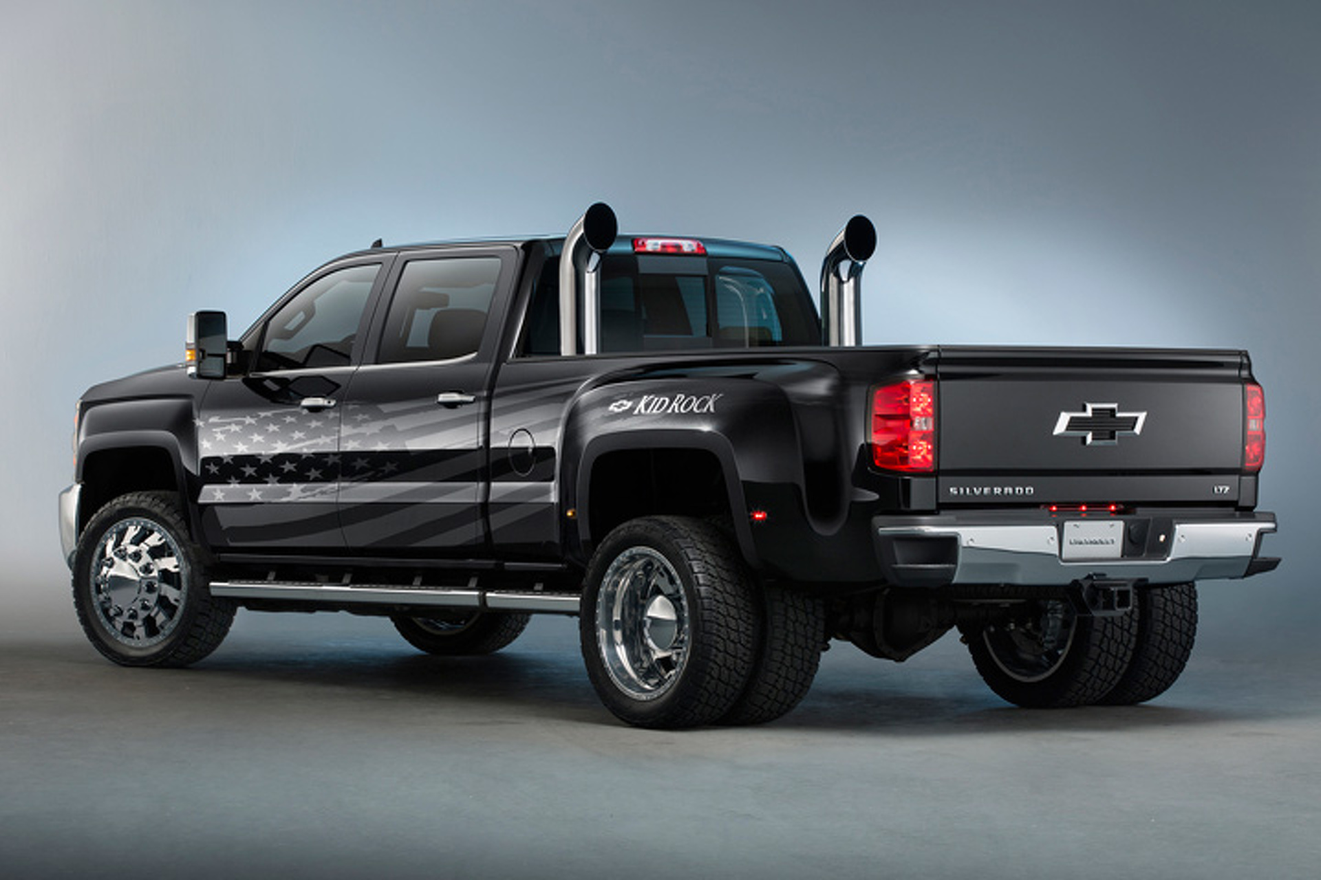 Kid Rock's Custom Chevy Silverado Goes BIG for U.S. Workers
